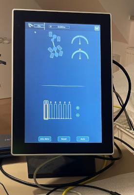 Application on monitor in portait orientation powered by Verdin i.MX8M Mini.